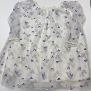 Toddler 4T Metallic Mouse Ear Dress. New w/o Tags